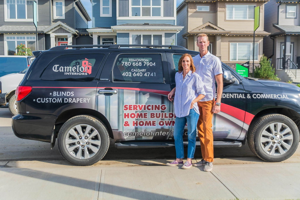 Camelot Interiors delivers window coverings